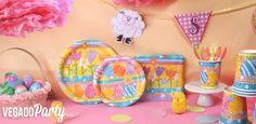 Vegaooparty : vaisselle jetable Pâques œufs printaniers et décoration de Pâques