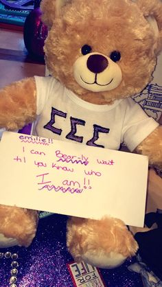 Big/little Reveal. WE SHOULD DO THIS DURING THE DAY. IT WOULD BE SO CUTE