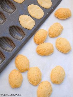 I ' ve often thought it would be fun to bake shortbread cookies   in my Madeleine pan.  Then I ran across today's recipe in a   Souther...