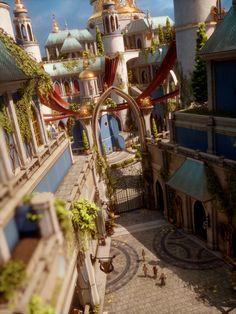 "places-in-games: ""Dragon Age: Inquisition - Val Royeaux "" Fantasy City, Fantasy Castle, Fantasy Places, Fantasy World, Medieval Fantasy, Fantasy Concept Art, Game Concept Art, Fantasy Artwork, Fantasy Art Landscapes"