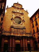 Montserrat Monastery front is monumental - enjoy the old architecture