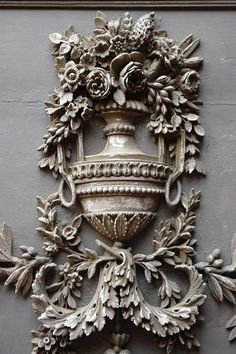 Carved mirror details
