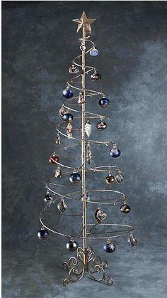 Los árboles ornamento - ornamento del árbol de alambre espiral: