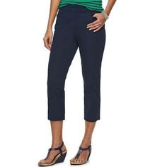 """Chaps By Ralph Lauren Capri Pants First pic of model wearing a similar style of Capri. Last 3 pics are of actual item/color. Pants are 97% Cotton and 3% Elastane. Size 4. The color is Blue. Laying flat """"15 (waist 30) Rise """"9.5. Inseam is """"19.   Length is """"30. This item is in Good condition, Authentic and from a Smoke And Pet free home. All Offers through the offer button ONLY. I Will not negotiate Price in the comment section. Thank You😃 Chaps Pants Capris"""