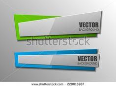 Design shape Origami vector banner
