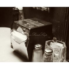 Vintage Diner Photography Print Fine Dining Old Diner Art Photo Print... ($37) ❤ liked on Polyvore featuring home, home decor and wall art