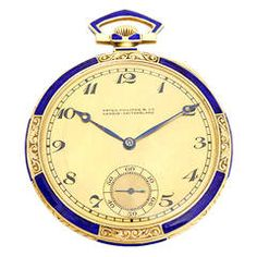 Patek Philippe Yellow Gold and Lapis Lazuli Pocket Watch
