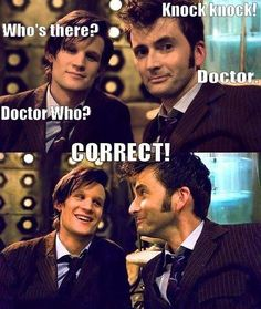 Favorite, favorite, favorite! Dr. Who, and these two Doctors in particular!