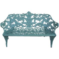 Beautiful Rare Antique Coalbrookdale Style Cast Iron Powder Coated Fern Bench #vintagegarden #rubylane Rare Antique, Antique Art, Antique Dolls, Garden Inspiration, Design Inspiration, Shabby Chic Garden, Beautiful Christmas Decorations, Garden Items, Garden Furniture