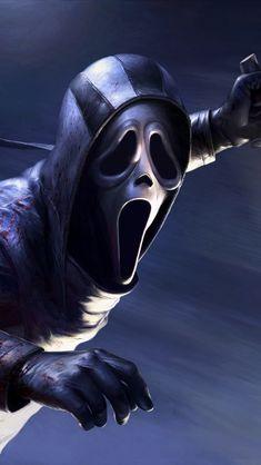 Dead By Daylight Ghostface DLC In 640x1136 Resolution Scream Series, Scream Movie, Arte Horror, Horror Art, Horror Movie Characters, Horror Movies, Spooky Scary, Creepy, Ghostface Scream