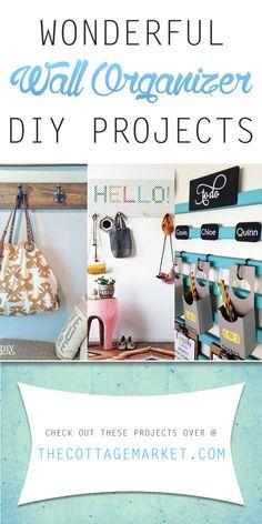 Wonderful Wall Organizer DIY Projects - The Cottage Market #WallOrganizers, #WallOrganizingDIYProjects, #WallOrganizerDIYProject