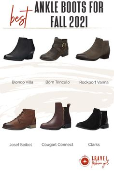 Ankle booties are awesome travel shoes for destinations such as the US, South Africa, Europe, New Zealand, and metropolitan cities around the world. They're best for moderate to cool temperatures and can be used in the rain as well. However, we don't recommend them for sub-zero temperatures. #TravelFashionGirl #TravelFashion #TravelShoes #ankleboots #fallboots #fallbootsoutfit Best Ankle Boots, Ankle Booties, Travel Outfits, Travel Shoes, Winter Shoes, Fall Wardrobe, Travel Style, Clarks, Ballet Flats