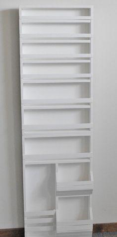 Spice Rack On Pantry Door, Door Mounted Spice Rack, Pantry Door Storage, Pantry Door Organizer, Cabinet Spice Rack, Small Pantry Organization, Spice Storage, Wall Storage, Kitchen Storage