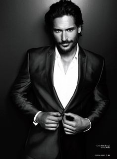 Joe Manganiello...this is one of the few times he is fully clothed. And yet...he is still so incredibly...fantastical. :P