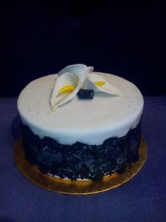 Kálás/Csipkés/Fekete-fehér torta