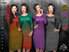 Fabric Dresses by Devirose at TSR • Sims 4 Updates