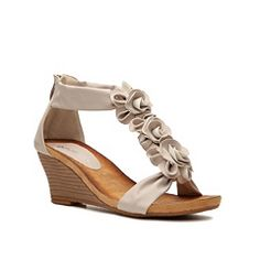 DSW Patrizia by Spring Step Harlequin Wedge Sandal