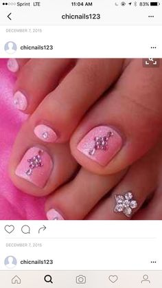 Christmas nail art designs nail art ideas to beautify our nails image detail for cute pink toe nail design prinsesfo Image collections