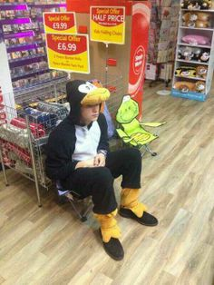 And here we have Brad the...duck. sorry his serious face is making me laugh!XD<<<< I'm pretty sure he is a penguin.