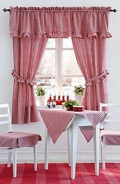 Lots of people know just how crucial it is to have lovely kitchen curtains as decor in your home. Possibly if you spend sufficient time in your kitchen you are among these people. Window Seat Kitchen, Kitchen Window Treatments, Kitchen Curtains, Corner Table, Kitchen Corner, Red Kitchen, Kitchen Tips, Kitchen Ideas, Kitchen Paint