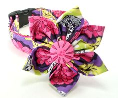 Dog Collar and Flower Set  Your Choice of by CollarsByDesign, $27.50