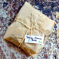 Wrapped package of easy DIY vegan ground beef that is grain-free Vegan Mince, Vegan Beef, Vegan Soup, Vegan Foods, Vegan Dishes, Vegetarian, Vegan Dinner Recipes, Veggie Recipes, Nut Free