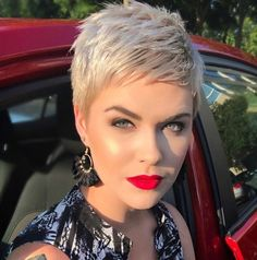 23 Best Messy Pixie Hairstyle That You Will Totally Adore - Page 19 of 23 23 Best Messy Pixie Frisur Super Short Hair, Short Grey Hair, Short Hair Cuts, Short Hair Styles, Blonde Pixie Cuts, Platinum Blonde Pixie, Pixie Styles, Short Pixie Haircuts, Cute Hairstyles For Short Hair