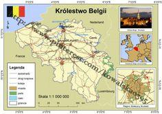 Mapa poglądowa Belgii