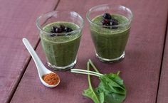 Breakfast: Epicure's Kick 'in Berry & Spinach Smoothie calories/serving) serve with poached egg and toast Epicure Recipes, Healthy Recipes, Smoothie Drinks, Smoothies, Blueberry Spinach Smoothie, Protein Mix, Iced Tea Recipes, Gluten Free Menu, Clean Eating Breakfast