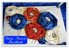 Fabric Flower Wedding Guestbook · DIY Weddings | CraftGossip.com