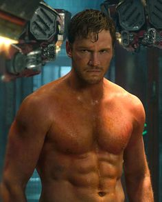 Chris Pratt in 'Guardians of the Galaxy' (Marvel)  whattttt the helll, someone has been working out!