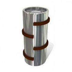 Contenitori per la raccolta differenziata dei rifiuti in metallo di design