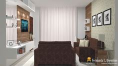 Projeto: Sala de TV | Decor em ação Fernanda Cavalcante Quentino: Design de Interiores, projetos de interiores, projetos online, projeto de móveis, paisagismo...