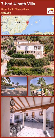 7-bed 4-bath Villa in Orba, Costa Blanca, Spain ►€940,000 #PropertyForSaleInSpain