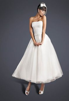 Short, Tea Length and 1950's Inspired Wedding Dresses by Cutting Edge Brides + Savings For Love My Dress Readers