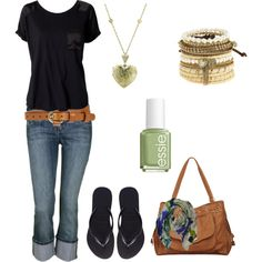 casual spring capri, created by ohsnapitsalycia on Polyvore