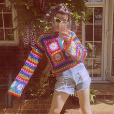 Crochet Clothes, Diy Clothes, Diy Vetement, Hippie Outfits, Crochet Fashion, Mode Inspiration, Crochet Crafts, Aesthetic Clothes, Knitwear