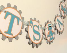 Robot Baby Shower Banner