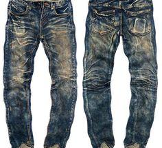 Dirty looking denim, distressed denim, old and used looking denim - well, you know the deal! The more distressed, the more expensive. So, it's all really