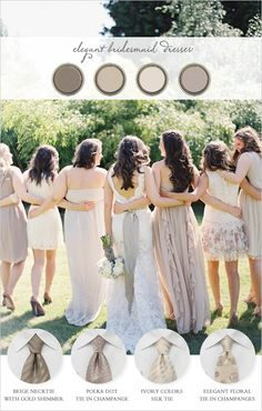 elegant bridesmaid dresses and match up your groomsmen so they are looking spiffy with http://www.bows-n-ties.com/ photo by http://www.erichmcveyblog.com/