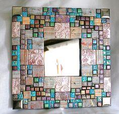 polymer clay mosaic handmade mirror | Flickr - Photo Sharing!