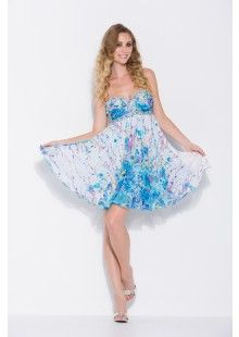 New Turquoise/Print Strapless Short Prom, Homecoming & Bridesmaid Dress XS-2XL nox2663vol17tq