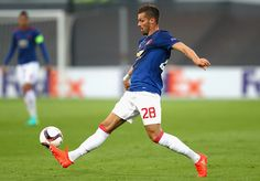 Morgan Schneiderlin of Manchester United in action during the UEFA Europa League…