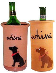 Black Lab Wine glasses by JennysDogArt on Etsy, $25.00
