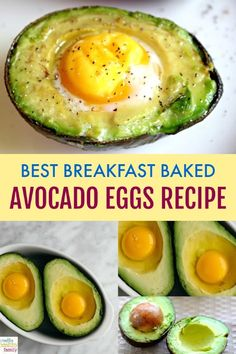 This Best Breakfast Baked Avocado Eggs Recipe is my new favorite healthy breakfast idea. Easy to make, packed with nutrients, and so tasty. Perfect to start your day the right way! via healthy Breakfast Baked Avocado Eggs Recipe – Creative Healthy Family Breakfast And Brunch, Avocado Breakfast, Breakfast Bake, Best Breakfast, Healthy Breakfast Recipes, Healthy Snacks, Healthy Recipes, Breakfast Ideas With Eggs, Breakfast Salad