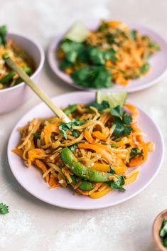 Colorful Veggie-Packed Vegan Pad Thai