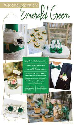 Emerald Green Wedding Inspiration via Delphine