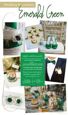 Emerald Green Wedding Inspiration via Delphine