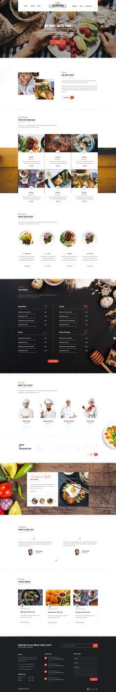Italian Radhuni is modern and creative responsive WordPress Restaurant Theme. - Agency Website Design - Help you design professional website - Italian Radhuni is modern and creative responsive WordPress Restaurant Theme. Website Design Inspiration, Design Blog, Menu Design, Layout Design, Design Ideas, Design Design, Graphic Design, Restaurant Themes, Restaurant Concept