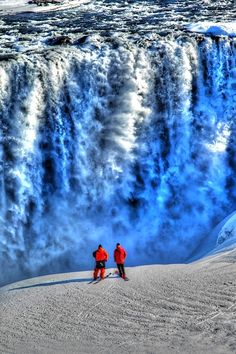 Vatnajökull National Park, Iceland #waterfall #iceland #nature #landscape See more of iceland at www.yestravel.is